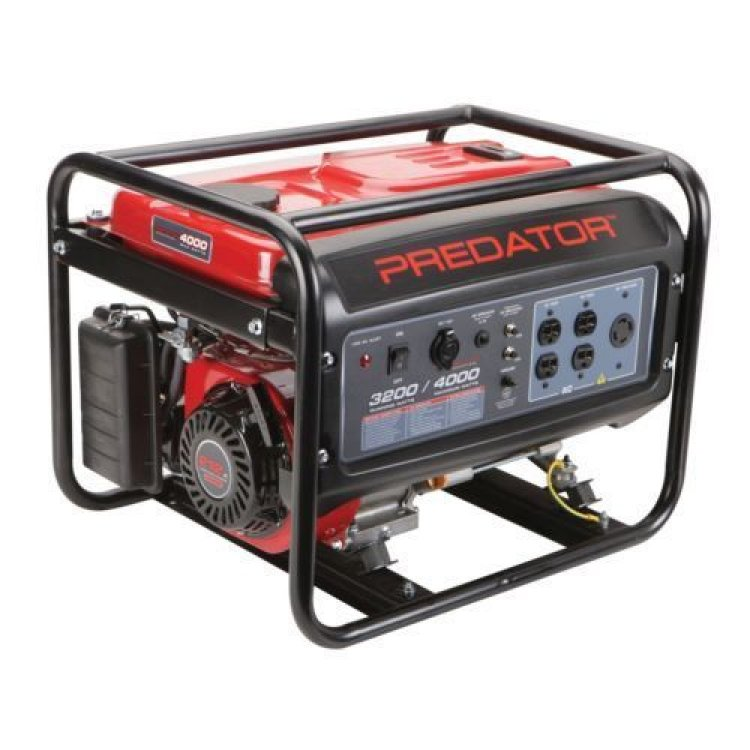 Generator with full tank of fuel